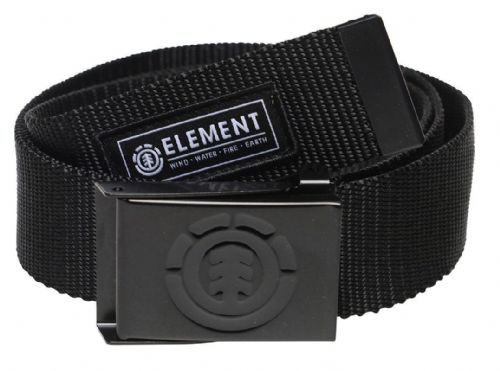 ELEMENT MENS BELT.BEYOND BLACK WEBBING JEANS TROUSERS STRAP BOTTLE OPENER 8W A1